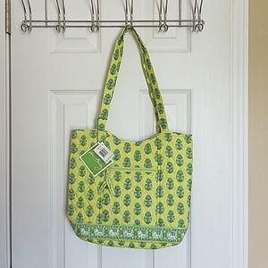 Vera Bradley Buckley tote citrus green floral bag
